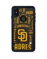 San Diego Padres - Cap Logo Blast iPhone XS Waterproof Case