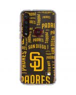 San Diego Padres - Cap Logo Blast Moto G8 Plus Clear Case
