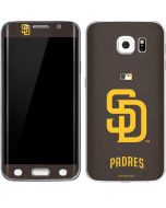 San Diego Padres - Solid Distressed Galaxy S6 Edge Skin