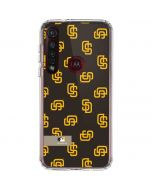 San Diego Padres Full Count Moto G8 Plus Clear Case