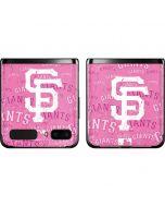 San Francisco Giants - Pink Cap Logo Blast Galaxy Z Flip Skin