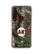 San Francisco Giants Realtree Xtra Green Camo Moto G8 Plus Clear Case