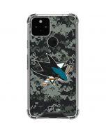 San Jose Sharks Camo Google Pixel 5 Clear Case