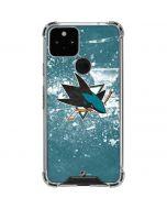 San Jose Sharks Frozen Google Pixel 5 Clear Case