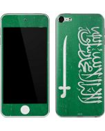 Saudi Arabia Flag Distressed Apple iPod Skin