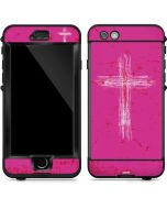 Scratched Cross Pink LifeProof Nuud iPhone Skin