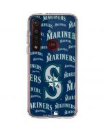 Seattle Mariners - Cap Logo Blast Moto G8 Plus Clear Case