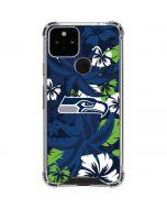 Seattle Seahawks Tropical Print Google Pixel 5 Clear Case