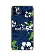 Seattle Seahawks Tropical Print iPhone 11 Pro Max Skin