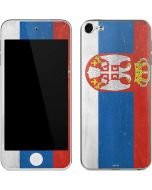 Serbia Flag Distressed Apple iPod Skin
