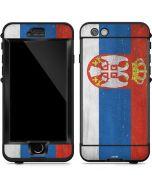 Serbia Flag Distressed LifeProof Nuud iPhone Skin
