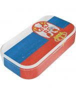 Serbia Flag Distressed UV Phone Sanitizer and Wireless Charger Skin