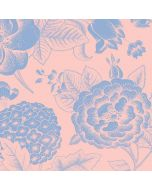 Rose Quartz & Serenity Floral Nintendo Switch Pro Controller Skin