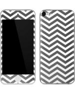 Silver Chevron Apple iPod Skin