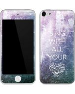 Sing With All Your Heart Apple iPod Skin