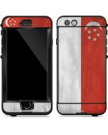 Singapore Flag Distressed LifeProof Nuud iPhone Skin