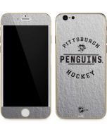 Pittsburgh Penguins Black Text iPhone 6/6s Skin