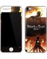 Attack On Titan Fire Apple iPod Skin