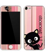 Chococat Pink and Brown Stripes Apple iPod Skin