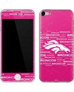 Denver Broncos Pink Blast Apple iPod Skin