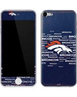 Denver Broncos Blue Blast Apple iPod Skin