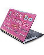 Philippians 4:13 Pink Generic Laptop Skin