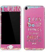 Philippians 4:13 Pink Apple iPod Skin