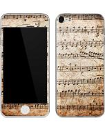 Antique Notes Apple iPod Skin