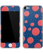 Coral Polka Dots Apple iPod Skin
