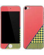 Coral Diagonal Split Apple iPod Skin