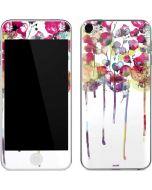 Painted Flowers Apple iPod Skin