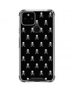 Skull and Crossbones (white) Google Pixel 5 Clear Case
