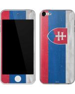 Slovakia Flag Distressed Apple iPod Skin
