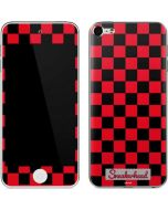 Sneakerhead Red Checkered Apple iPod Skin