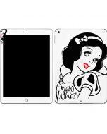 Snow White Black and White Apple iPad Skin