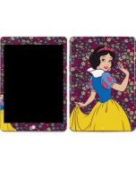 Snow White Floral Apple iPad Skin