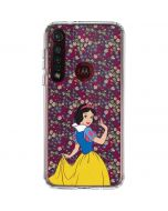 Snow White Floral Moto G8 Plus Clear Case