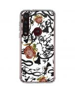 Snow White Roses Moto G8 Plus Clear Case