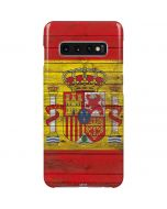 Spain Flag Dark Wood Galaxy S10 Plus Lite Case