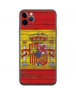 Spain Flag Dark Wood iPhone 11 Pro Max Skin