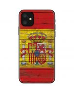 Spain Flag Dark Wood iPhone 11 Skin