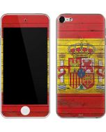 Spain Flag Dark Wood Apple iPod Skin