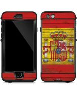 Spain Flag Dark Wood LifeProof Nuud iPhone Skin