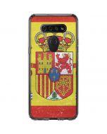 Spain Flag Distressed LG K51/Q51 Clear Case