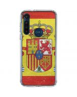 Spain Flag Distressed Moto G8 Power Clear Case
