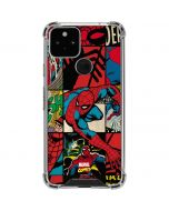 Spider-Man Action Grid Google Pixel 5 Clear Case