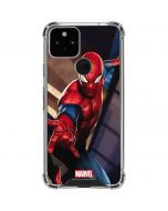 Spider-Man in City Google Pixel 5 Clear Case