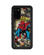 Spider-Man Vintage Comic Galaxy S20 Waterproof Case