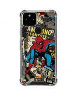Spider-Man Vintage Comic Google Pixel 5 Clear Case