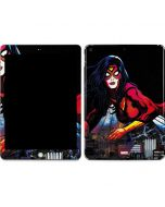 Spider-Woman Skyline Apple iPad Skin
